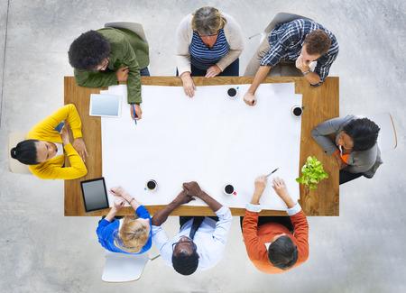 Diversity Casual Team Meeting Brainstorming Concept