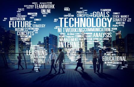 technologia: Połączenie technologii sieci Global Communication Concept Zdjęcie Seryjne