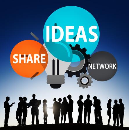 teamwork business: Ideas Innovation Creativity Knowledge Inspiration Vision Concept