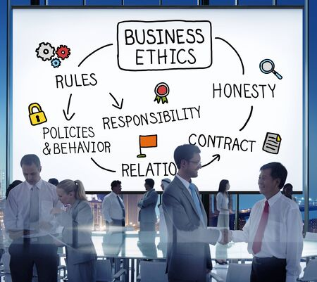 ethnics: Business Ethnics Rules Honesty Responsibility Concept