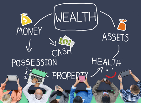 wealth management: Wealth Money Possession Investment Growth Concept