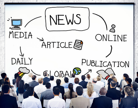 publication: News Publication Online Article Media Concept Stock Photo