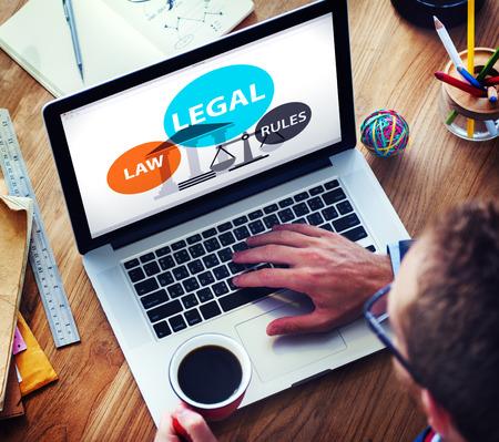 Legal Law Rules Community Justice Social Gathering Concept Standard-Bild