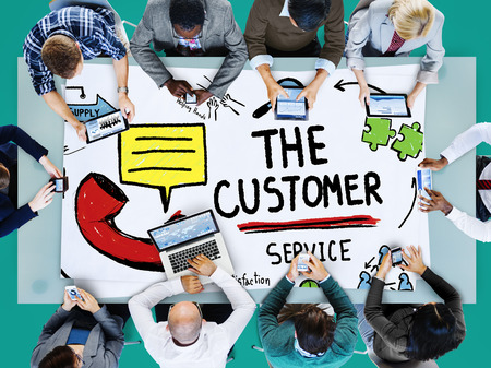 excellent service: Customer Service Support Solution Assistance Aid Concept