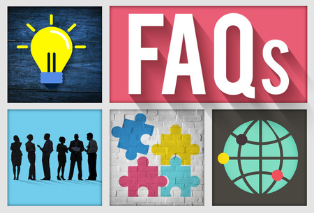faqs: FAQs Guidance Answers Questions Feedback Concept Stock Photo