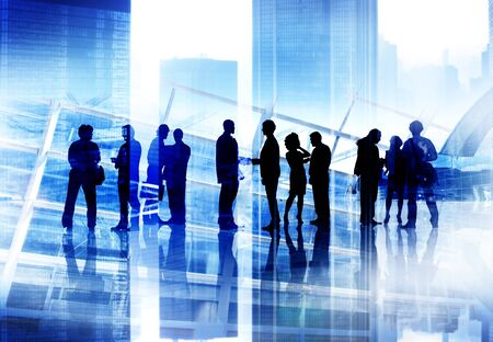 corporate building: Corporate Business People Team Discussion Working Concept Stock Photo