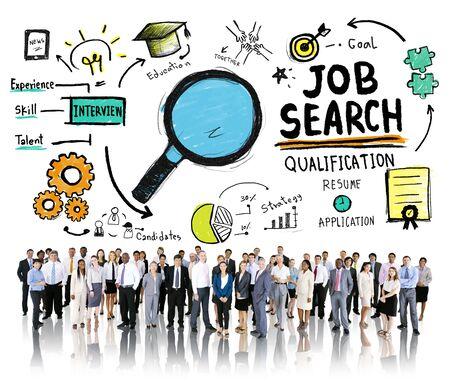 Zakenmensen discussie aspiratie Job Search Concept
