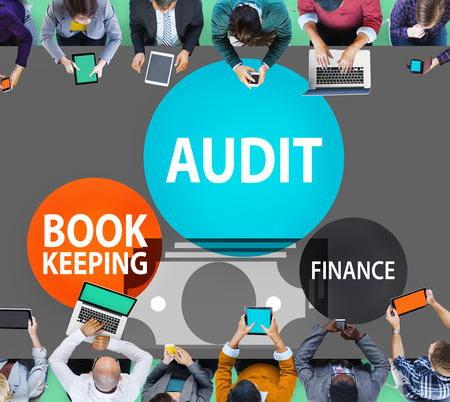 financial audit: Audit Bookkeeping Finance Money Report Concept