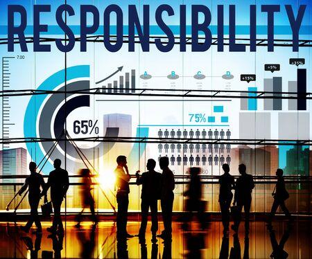 trustworthy: Responsibility Work Duty Trustworthy Roles Concept