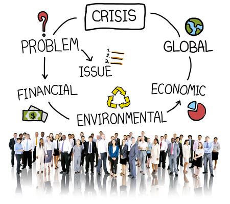 economic: Crisis Economic Environmental Finance Global Concept