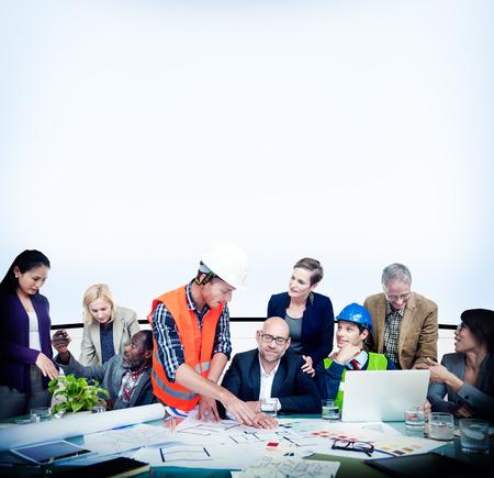 messy office: Trabajo Debate Team Concept Gente Negocios Oficina Foto de archivo
