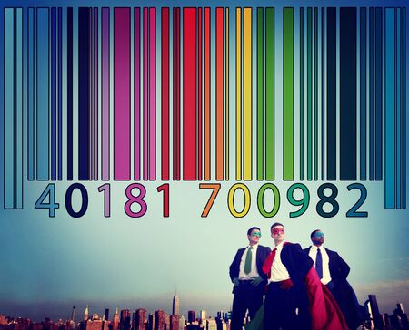 encryption: Bar Code Price Tag Coding Encryption Label Merchandise Concept