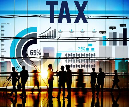 financial audit: Tax Taxation Economy Income Money Financial Concept
