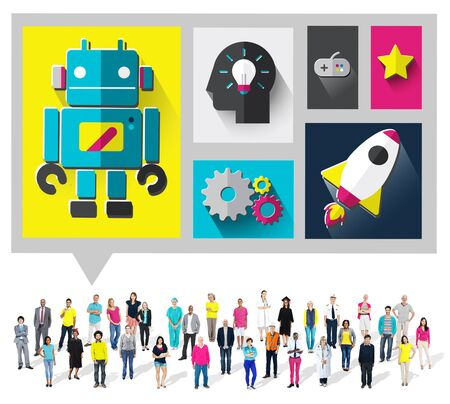 ingenuity: Innovate Creativity Ideas New Modern Technology Concept Stock Photo