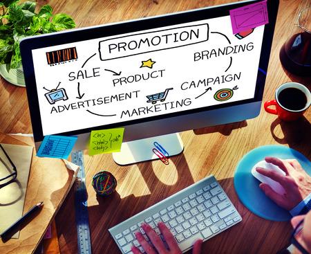 Promotion Advertisement Sale Branding Marketing Concept Foto de archivo