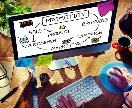 Promotion Advertisement Sale Branding Marketing Concept Stok Fotoğraf