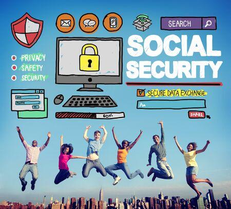 Seguridad Social Bienestar Retiro Concepto de Pago Foto de archivo - 42941287