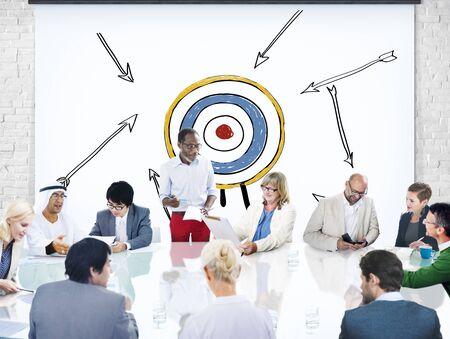aim: Goal Target Success Aspiration Aim Inspiration Concept