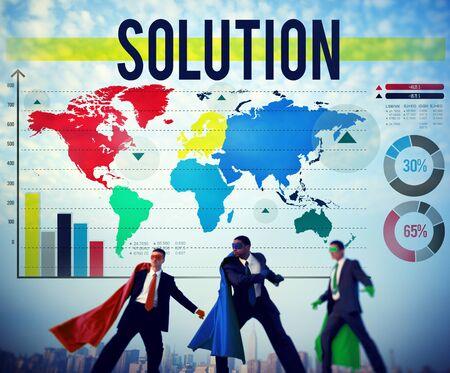 answers concept: Solution Problem Solving Decision Answers Concept
