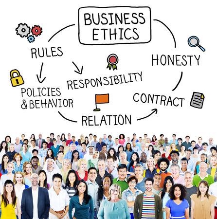 etica: Étnicas negocio Reglas Concepto Responsabilidad Honestidad Foto de archivo