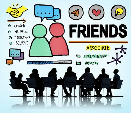 comrades: Friends Group People Social Media Loyalty Concept