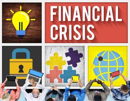 financiele crisis: Financiële Crisis Accounting Banking Economie Concept Stockfoto