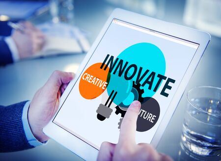 online learning: Innovation Creative Future Inspiration Aspiration Concept