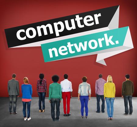 computer netzwerk: Computer Network Technology Computing Internet-Konzept