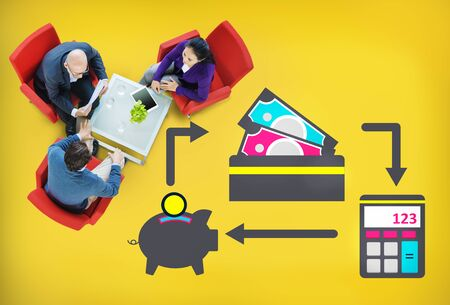 cash money: Ahorro de dinero en efectivo Presupuesto Financiero Banca Concepto