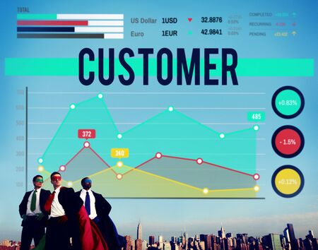 marketing target: Customer Target Marketing Business Strategy Concept Stock Photo