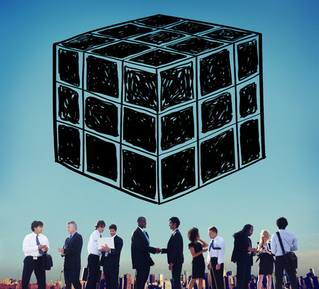 dimension: Cube Dice Dimension Logic Mind Thinking Concept Stock Photo
