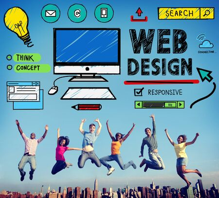 web design: Web Design Development Style Ideas Interface Concept