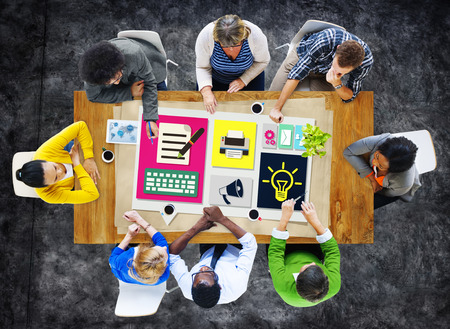 Content Connect Social Media Data Blog Concept Banque d'images