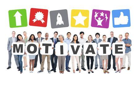 Motivate Business People Team Teamwork Success Strategy Concept