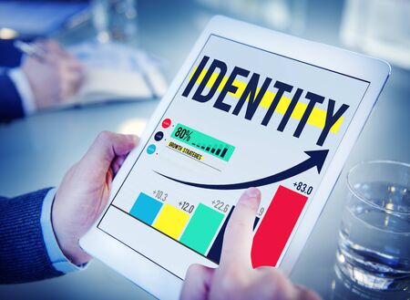 search bar: Identity Branding Commercial Copyright Marketing Concept Stock Photo