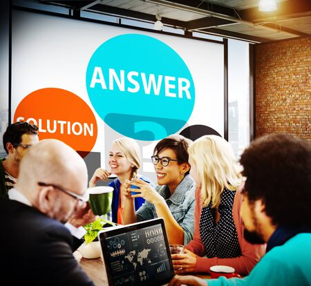 response: Answers Solution Reply Response Problems Concept Stock Photo