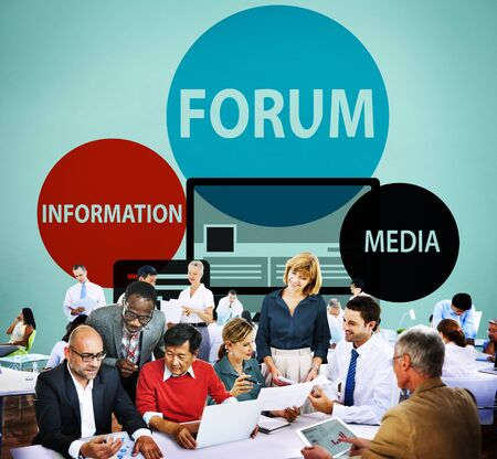 topic: Forum Global Communication Connection Topic Concept Stock Photo