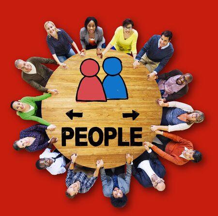 bocetos de personas: Persona Grupo Ciudadano Comunidad Concept Foto de archivo
