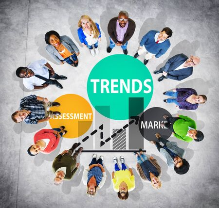 business trending: Trends Assessment Market Fashion Contemporary Concept
