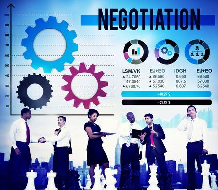 compromise: Negotiation Compromise Decision Contract Benefit Concept Stock Photo