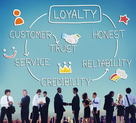 nucleo: Servicio de fidelización de clientes Confianza Fiabilidad Honesto Concepto