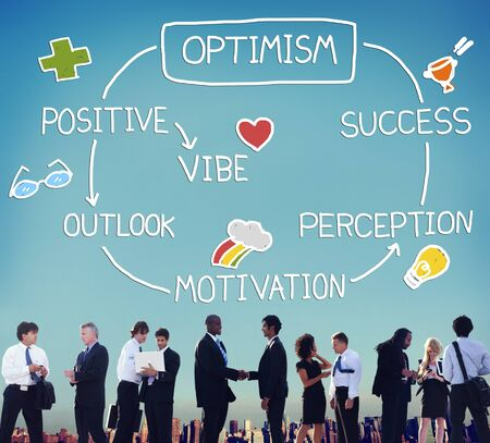 vibe: Optimism Positive Outlook Vibe Perception Vision Concept Stock Photo
