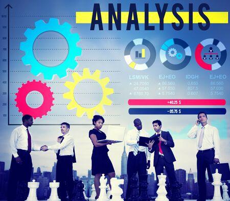 analyze: Analysis Analyze Business Information Data Concept