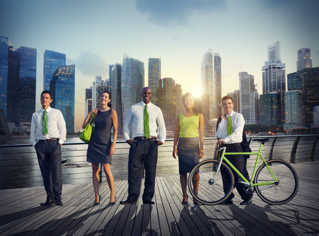 professional people: Business People Green Business Corporate Cityscape Professional Concept Stock Photo