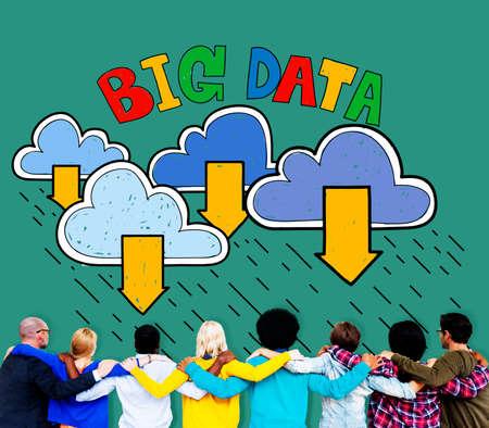 shared sharing: Big Data Storage Database Download Concept