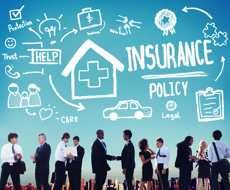 Insurance Policy Help Legal Care Trust Protection Protection Concept Foto de archivo