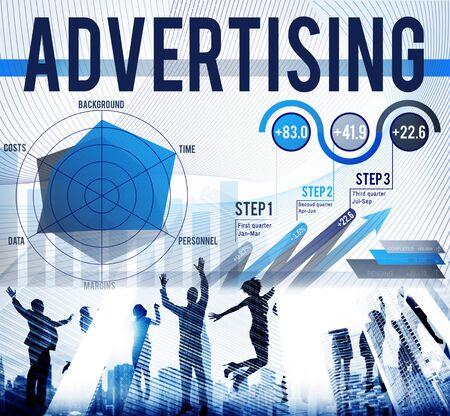 publicit�: Advertising Marketing Promotion Publicity Concept Banque d'images
