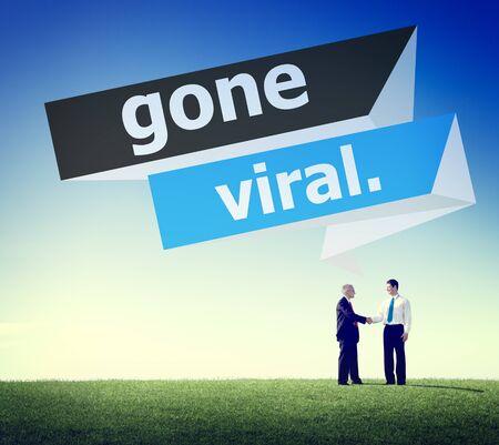 gone: Gone Vial Popular Social Media Networking Concept
