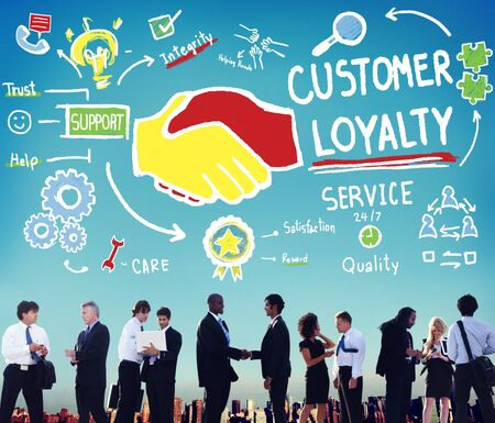 customer support: Customer Loyalty Satisfaction Support Strategy Service Concept