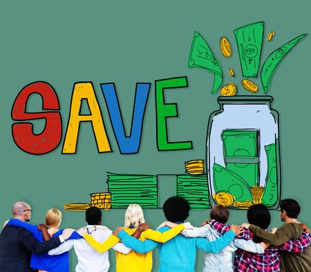 facing backwards: Save Saving Investment Finance Money Concept